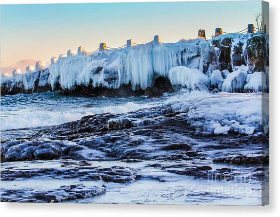 Icy Shores Canvas Print