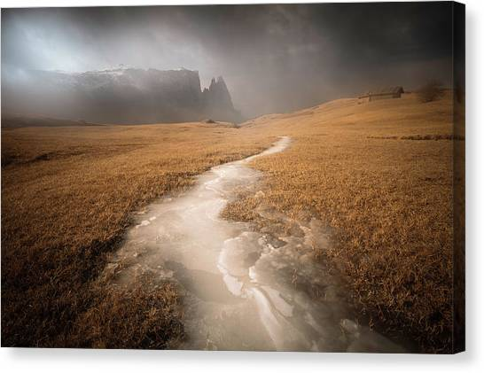 Dolomites Canvas Print - Icy Ways by Luca Rebustini