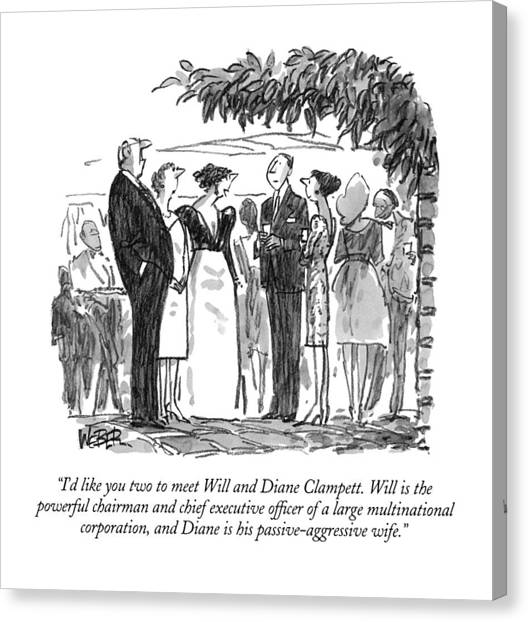 I'd Like You Two To Meet Will And Diane Clampett Canvas Print
