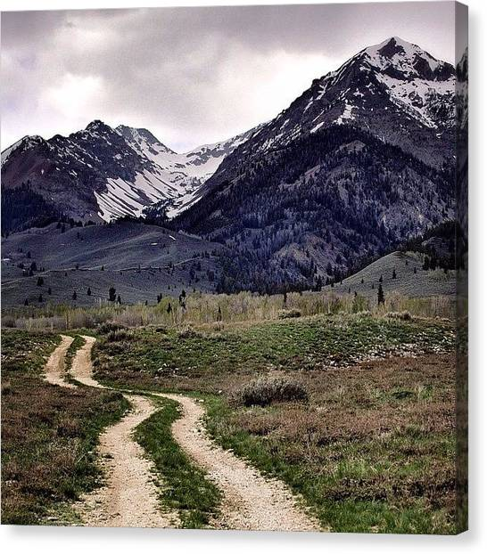 Idaho Canvas Print - #idaho #backroads #exploring #mountains by Cody Haskell