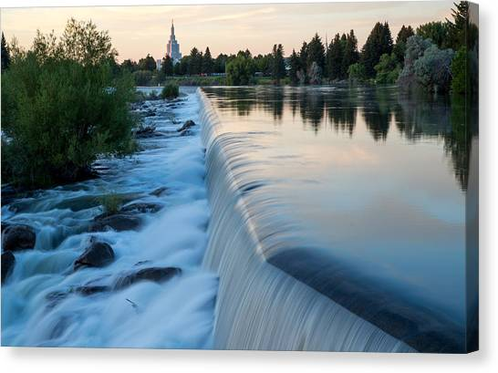 Idaho Falls Sunset Canvas Print