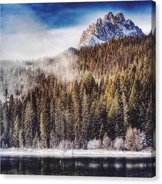 Idaho Canvas Print - #idaho #idabros #redfishlake #sawtooths by Cody Haskell