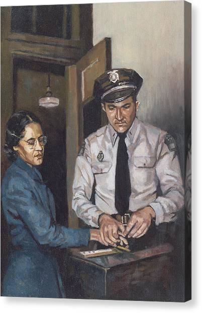 Police Officers Canvas Print - Identification Rosa by Colin Bootman