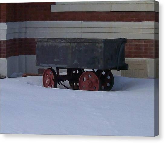 Idle Wagon Canvas Print