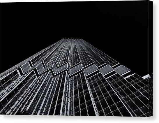 Ids Tower Minneapolis  Mono Canvas Print