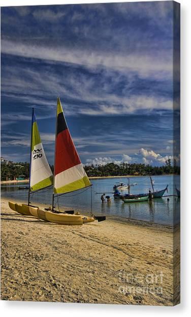 Beach Resort Vacation Canvas Print - Idyllic Thai Beach Scene by David Smith