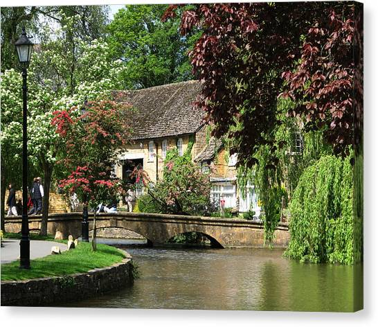 Idyllic Village Scene Canvas Print