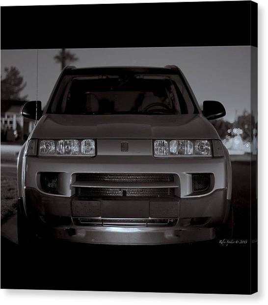 Saturn Canvas Print - If Only We Had A Beamer, Or Audi, Or by Riley Spiller