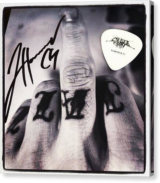 Guitar Picks Canvas Print - If Only You Knew How #happy I Am by Dmitry Avdeev