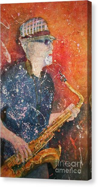 If Rich Played Sax Canvas Print