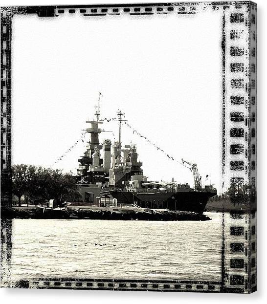 Battleship Canvas Print - if You Want To Build A Ship, Don't by Eunice De Moraes