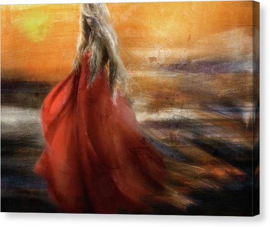 Dress Canvas Print - If You Were The Sun, I Would Just Fade Into You... by Charlaine Gerber
