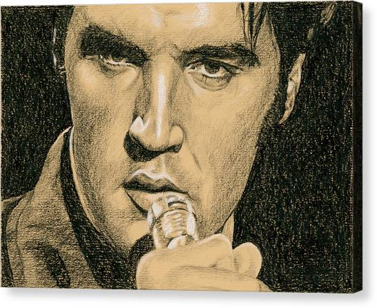 Elvis Presley Canvas Print - If You're Looking For Trouble by Rob De Vries