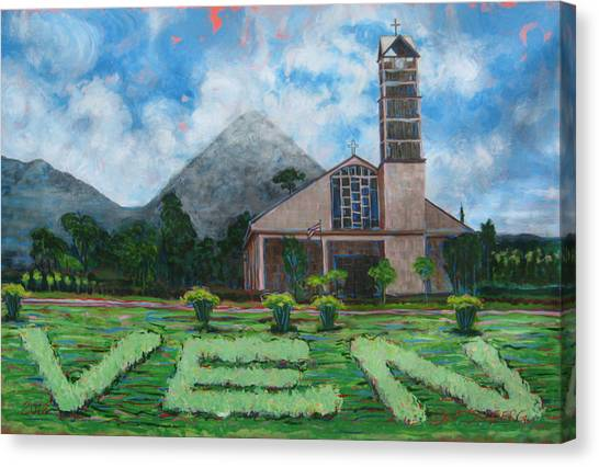 Iglesia La Fortuna  Costa Rica Canvas Print