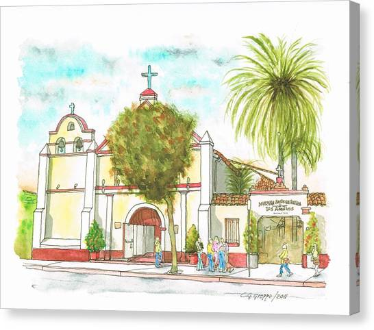 Iglesia Nuestra Senora De Los Angeles - Los-angeles - California Canvas Print