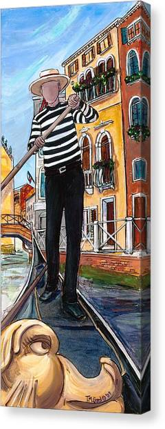 Canvas Print featuring the painting Igor by TM Gand