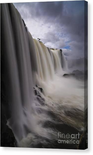 Iguazu Falls Canvas Print - Iguazu Falls Drama by Mike Reid