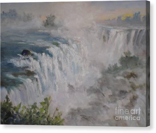 Iguazu Falls Canvas Print - Iguazu Falls by Mohamed Hirji