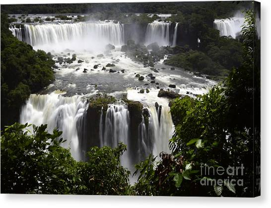 Iguazu Falls Canvas Print - Iguazu Falls South America 10 by Bob Christopher