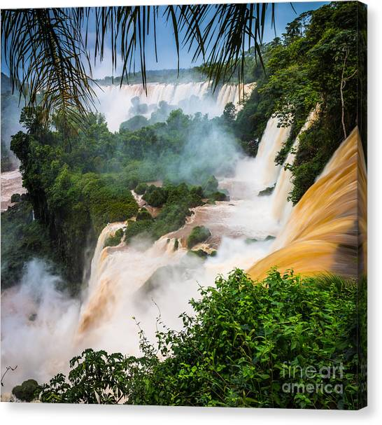 Iguazu Falls Canvas Print - Iguazu Natural Wonder by Inge Johnsson