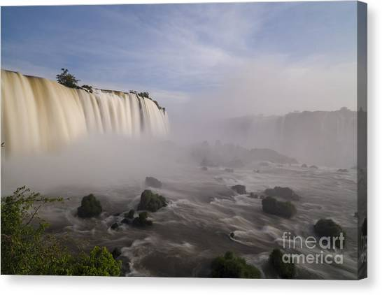 Iguazu Falls Canvas Print - Iguazus Majesty by Mike Reid