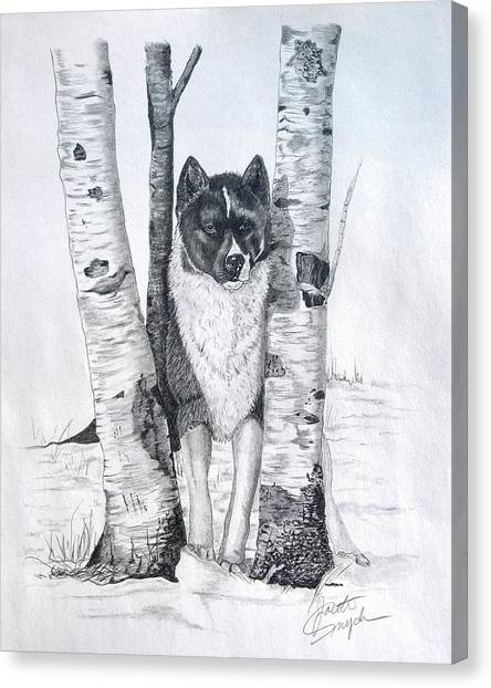 Ihasa In The Woods Canvas Print