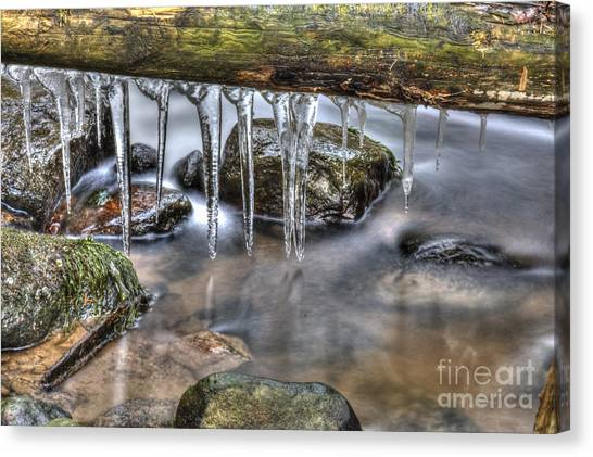 Painterly Canvas Print - Icicles Time by Veikko Suikkanen