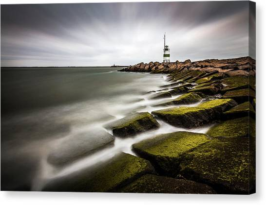 Tower Canvas Print - Ijmuiden Lighthouse by Sus Bogaerts