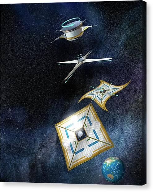 Accelerate Canvas Print - Ikaros Solar Sail by Henning Dalhoff