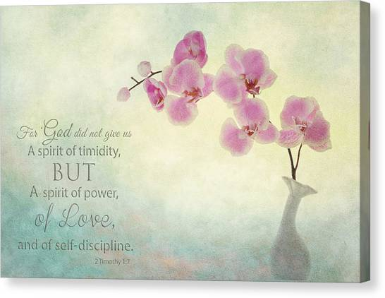 Ikebana With Message Canvas Print