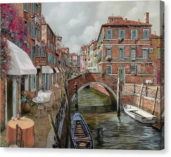 Dating Canvas Print - Il Fosso Ombroso by Guido Borelli