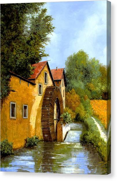 Mills Canvas Print - Il Mulino Ad Acqua by Guido Borelli