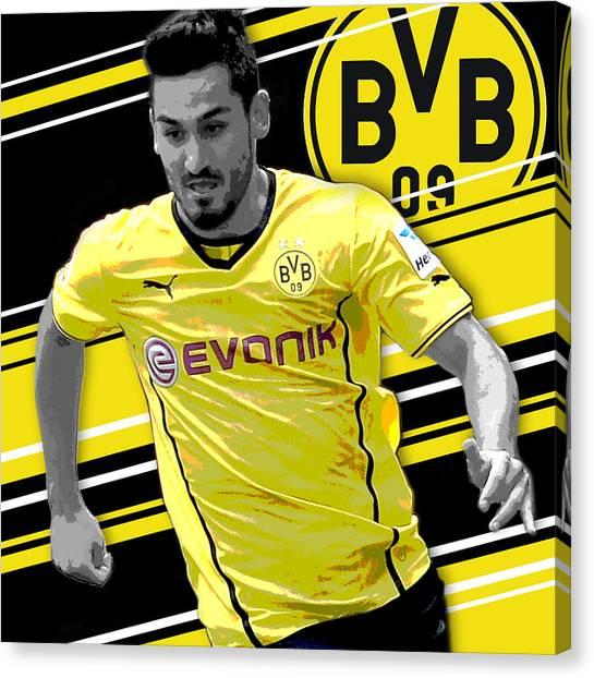 Soccer Players Canvas Print - Ilkay Gundogan Borussia Dortmund Print by Pro Prints