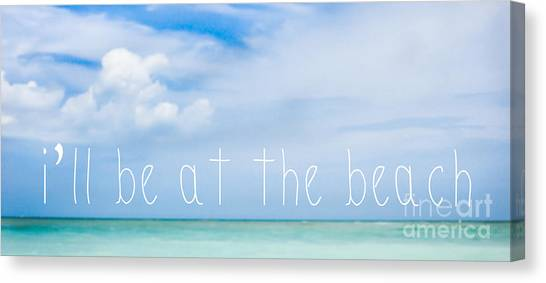 Fort Pierce Canvas Print - I'll Be At The Beach by Liesl Marelli