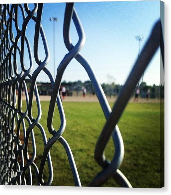 Softball Canvas Print - I'll Be Leaving Today, But These Girls by Janae Cordova