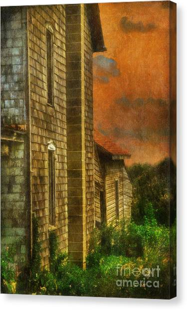 Abandoned House Canvas Print - I'll Take Everything - Painterly Version by Lois Bryan