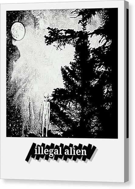 Illegal Aliens Canvas Print - Illegal Alien Ll by Daryl Macintyre