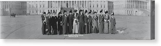 Womens Rights Canvas Print - Illinois Delegation To Suffrage by Fred Schutz Collection