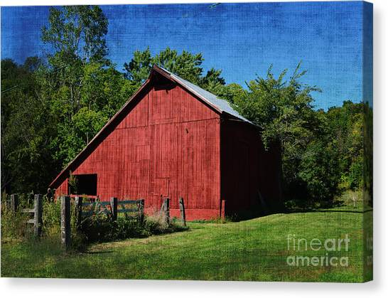 Illinois Red Barn 2 Canvas Print