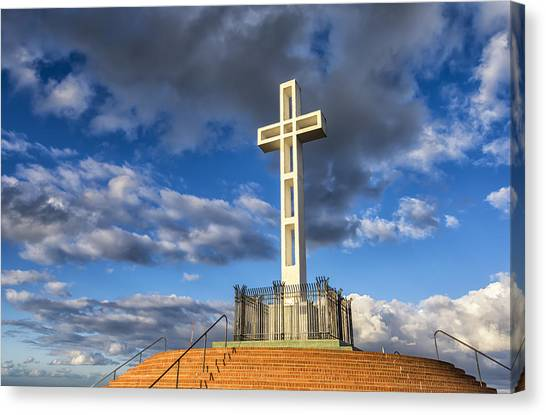 Illuminated Cross Canvas Print