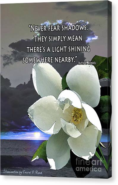 Illumination Quote Card Canvas Print