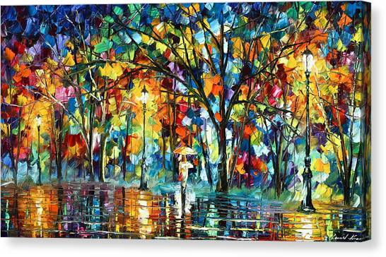 Rain Forest Canvas Print - Illusion  by Leonid Afremov