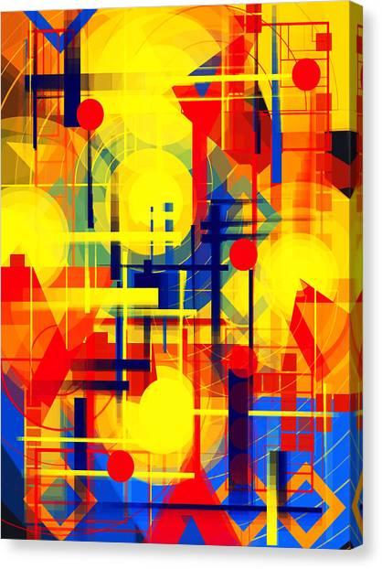 Illusion Of Night City Canvas Print