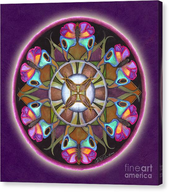 Illusion Of Self Mandala Canvas Print