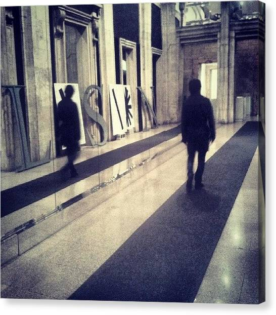 Installation Art Canvas Print - #illusionman. #walking #men by Marcello Valeri