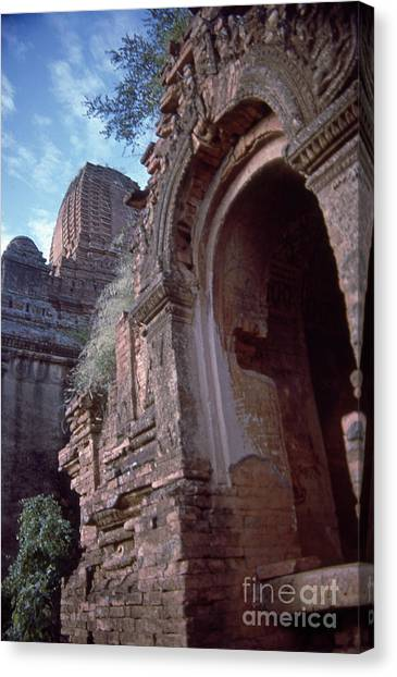 Illusive Pagan Burma Canvas Print by Scott Shaw