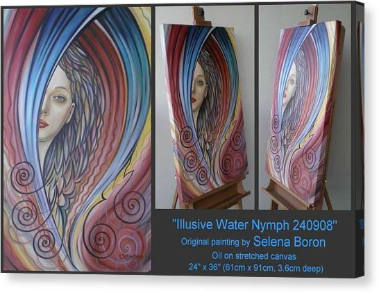 Illusive Water Nymph 240908 Canvas Print