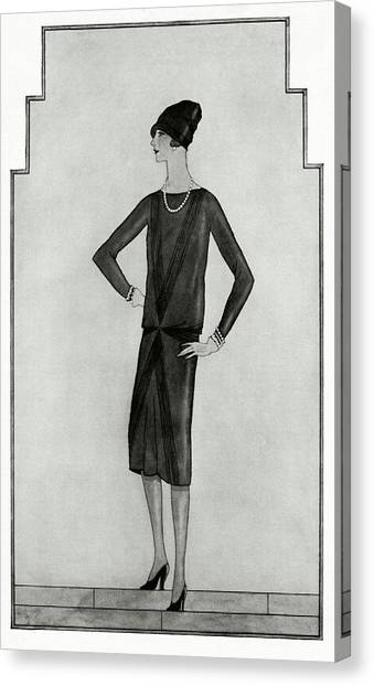 Fashion Canvas Print - First Little Black Dress By Chanel by Bocher