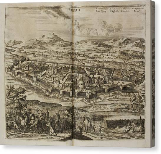 Baghdad Canvas Print - Illustration Of Baghdad In The 17th Centu by British Library