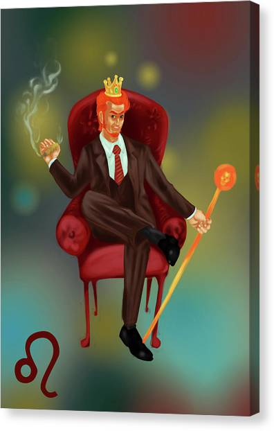 Illustration Of Characteristic Of A Leo Businessman Canvas Print by Fanatic Studio / Science Photo Library